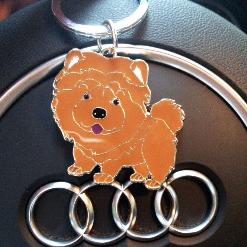 Factory direct sale Metal key chain Pendant coloured drawing or pattern pet key chain chow chow ancient dachshunds friends gift(China (Mainland))