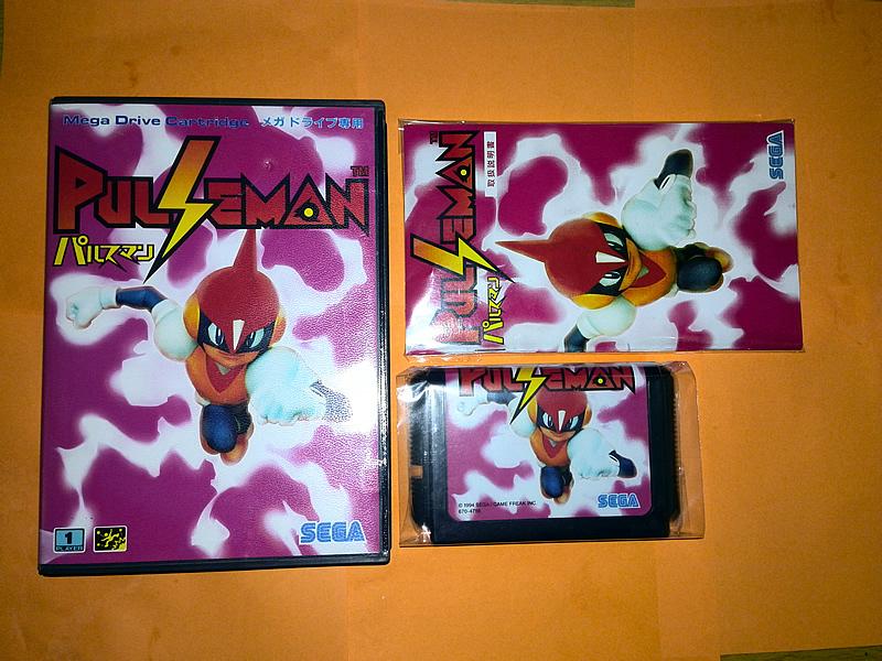 SEGA MD game card : Pulseman ( box+manual+cartridge )<br><br>Aliexpress