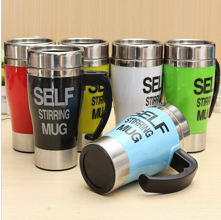 Automatic Electric Self Stirring Coffee Cup Novelty Stainless Steel Mixing Drinking Mug Cup Special Gift No Battery Included(China (Mainland))