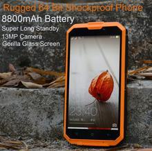 "8800mAh Long Standby Rugged Smartphone Shockproof TD-SCDMA MTK6735 13MP 5.0"" YunOS system 4G TD-LTE phone P193(China (Mainland))"