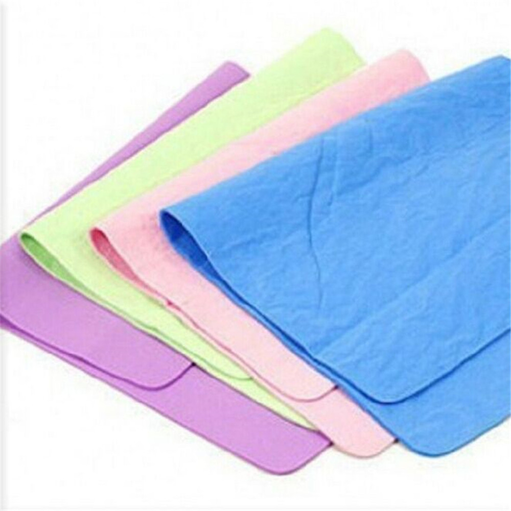 44cm * 33cm Chamois Leather Towel Cleaning Towel Car Wash Towel Dry Hair Towel Cleaning Cloth High Quality Inexpensive(China (Mainland))