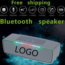 2015 Free shipping Big power Portable Wireless Bluetooth Speaker 10W Stereo audio sound with microphone built in 1200mAh Battery(China (Mainland))