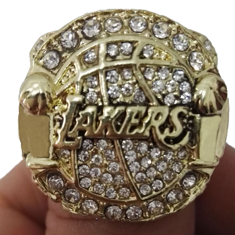 Factory direct sale 2010 Los Angeles Lakers Basketball Zinc Alloy 24K gold plated Fashion Sports Replica World Championship Ring(China (Mainland))