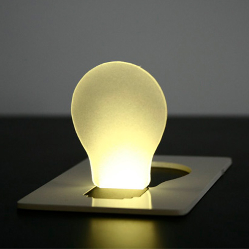 Amazing New Portable Pocket LED Card Light Lamp Put in Purse Wallet # 1716(China (Mainland))