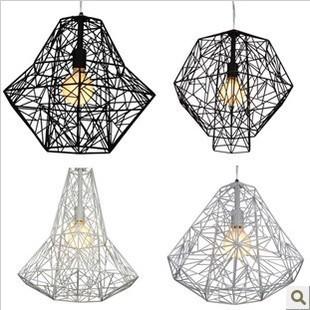 Lamp house Nordic retro bar the bird's nest diamond pendant lamp, wrought iron lamp village restaurant(China (Mainland))