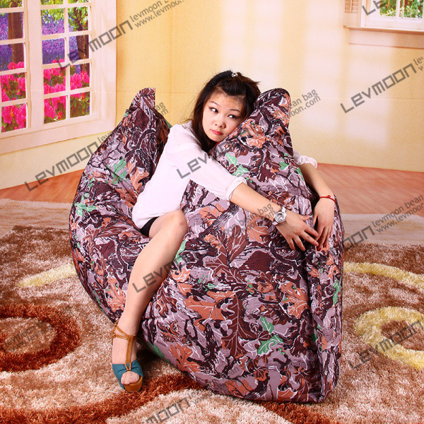 Фотография FREE SHIPPING outdoor bean bag seat water proof bean bag pattern 140*180cm camouflage garden sofa  adult bean bag bed
