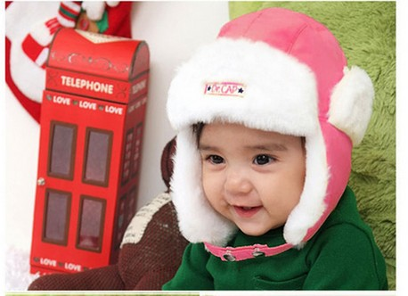 2015 Sale Russian Kids Winter Hat Children's New Earmuffs Snow Cap Baby Protect Ears Very Warm Comfortable Hats(China (Mainland))