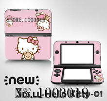 Hello kitty For MH4 front&back Decal Skin Sticker for Nintendo For New 3DSXL Sticker for New 3DS XL LL