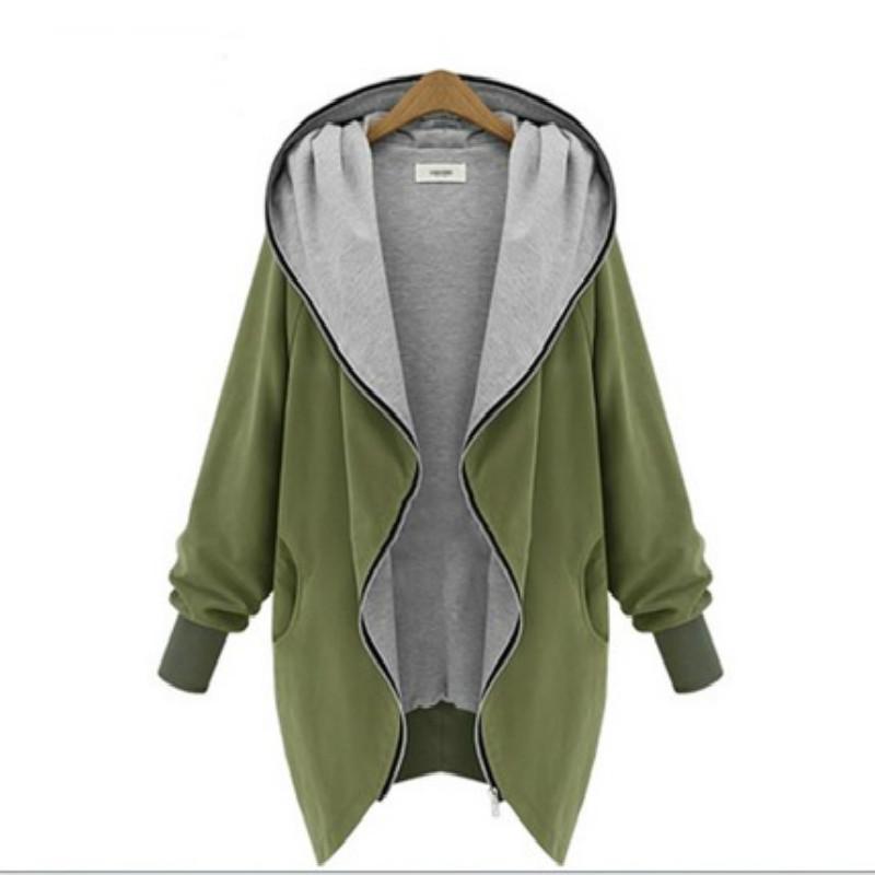 JY L 7XL Women s Hoodies Autumn Winter Plus Size Loose Fit Sweatshirt