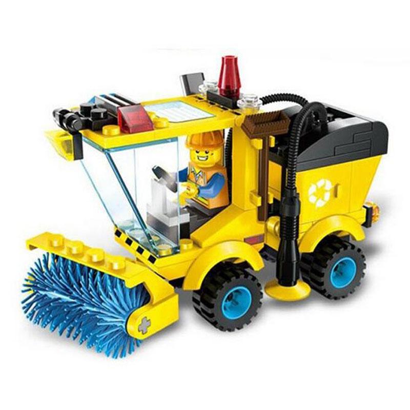 QM 1101 2016 New city series sweeper car series children educational building blocks toys P448 Lepin(China (Mainland))