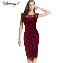 Vfemage Womens Elegant Embroidery Charming Party Evening Bridemaid Mother of Bride Special Occasion Sheath Bodycon Dress 3546(China (Mainland))