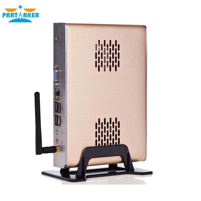 Fanless Mini PC Systems full alluminum with Intel Celeron dual-core C1037U 1.8GHz 2G RAM HD Graphics L3 2MB NM70 Express Chipset(China (Mainland))