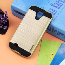Buy I9500 Galaxy S IV Phone Cases, Luxury Dual Hybrid Shockproof Brushed Hard Case Back Cover Skin Samsung Galaxy S4 i9500 for $4.99 in AliExpress store