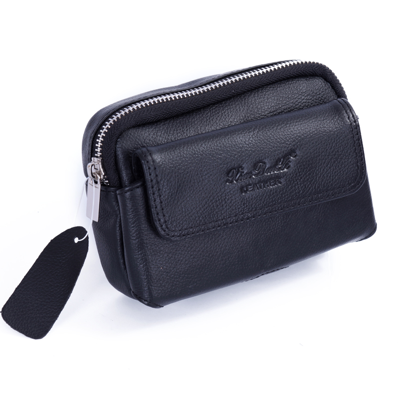 For samsung mobile phone bag male genuine leather waist pack i9300 9500 s4 4.8 5.0 5.3 mobile phone case(China (Mainland))