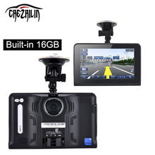 New 7 inch GPS Navigation Android GPS DVR Camcorder Allwinner A33 Quad Core 4 CPU Radar Detector 16GB Free Map