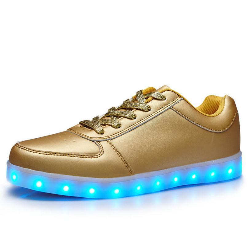 2016 new chaussure lumineuse enfant gar on usb
