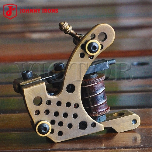 JOHNNY IRONS Tattoo Machines , 10 Wraps 28 mm 22 uF , Pure Copper - MJ03 Liner , Free Shipping(China (Mainland))