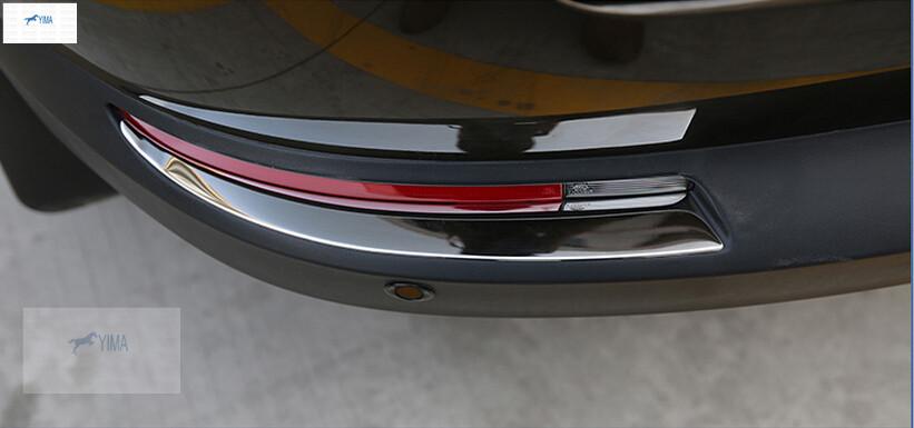 For VW Volkswagen Tiguan 2011 - 2015 Stainless steel Rear Fog Light Lamp Eyebrow Cover Trim Modling Garnish 2 pcs(China (Mainland))
