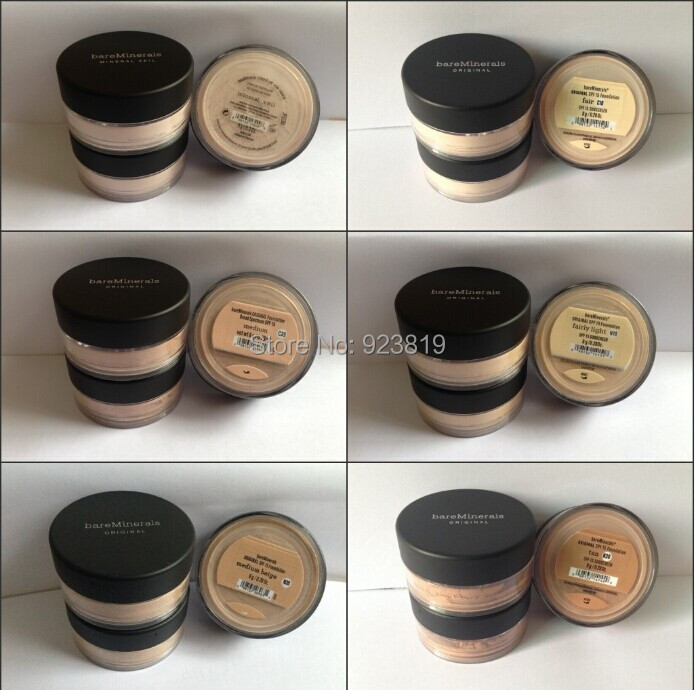 Prevent bask loose powder,bareMinerals bare Minerals Escentuals SPF15 Foundation,original mineral veil,illuminating mineral veil(China (Mainland))