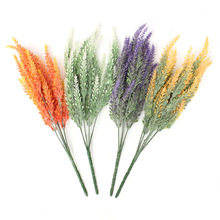 Beautiful Design 35cm Artificial Lavender Flowers Bouquet Spray Stems Home Wedding Party Decor 4 Colors(China (Mainland))