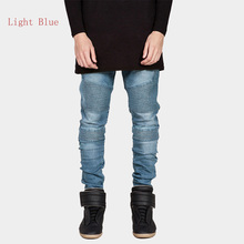 HOT Fashion Mens Skinny Denim Represent Biker Jeans Joggers Hip Hop Runway Elastic Jeans Washed Jeans(China (Mainland))