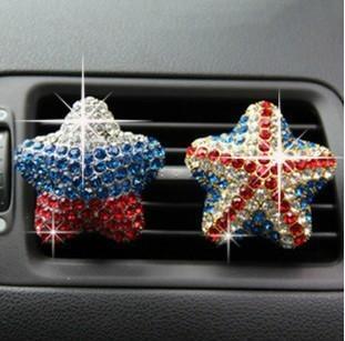 Free shipping Diamond the flag car perfume air freshener perfumes 100 original The five countries national flag