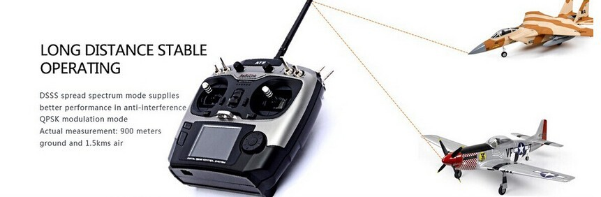 Free Shipping 2.4G 9ch system Radiolink AT9 rc FPV radio Transmitter & Receiver TX + RX for Drone FPV