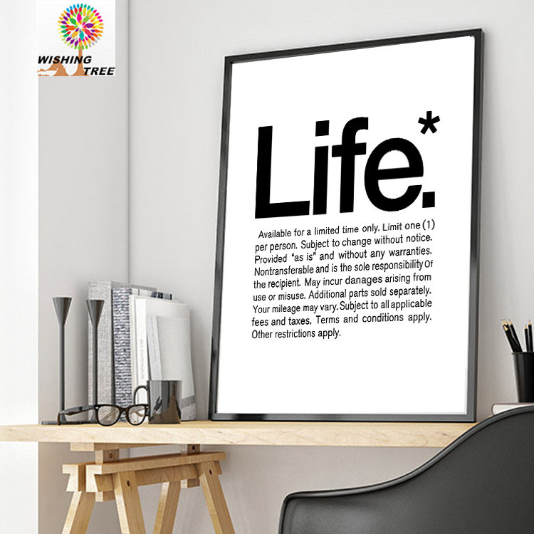 Living Room Modern Print Poster Painting Home Decor Motivational Quote Inspirational Wall Art