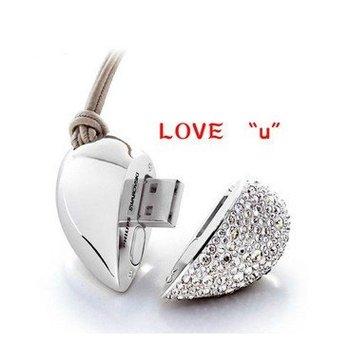 Free Shipping TURE100% High Quality H2 Test  jewelry usb flash drive 1GB 2GB 4GB 8GB 16GB