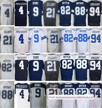 Cheap 4 Dak Prescott 21 Ezekiel Elliott 88 Dez Bryant 9 Tony Romo 72 Travis Frederick 82 Jason Witten Stitched Best quality(China (Mainland))