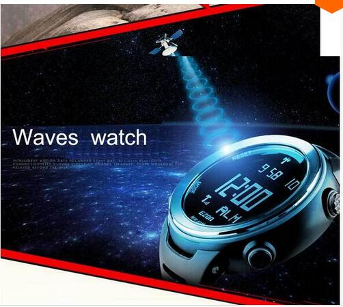Waves watch Multi-functional 50m waterproof outdoor sports men running watch sports brand Waves table L002 free shipping