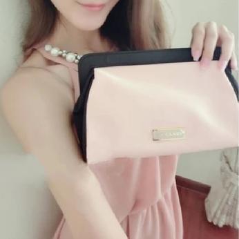H2026 VIDEO Cute Sweet Candy Pink Black BICOLOR SATIN Case Cosmetic MakeUp Organizer Storage Bag Drop shipping Free shipping(China (Mainland))