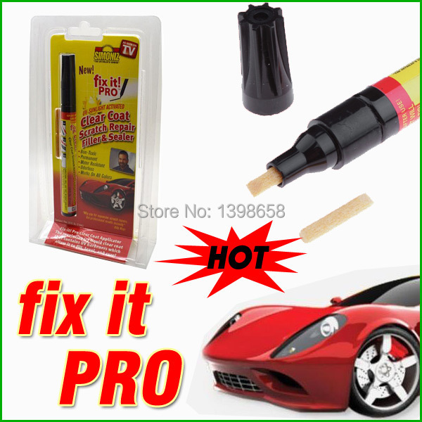 Whole sales Original box Retail Packing 200pcs/lot Fix It Pro Clear Car Scratch Repair Remover Pen Simoniz Clear Coat Applicator(China (Mainland))