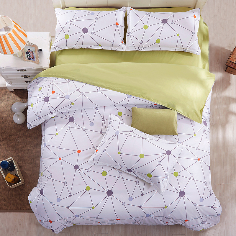 Cotton Blend Bedding Sets Duvet Cover Flat Sheet Pillowcase Twin Full Queen King Size Comforter Bed Clothe(China (Mainland))