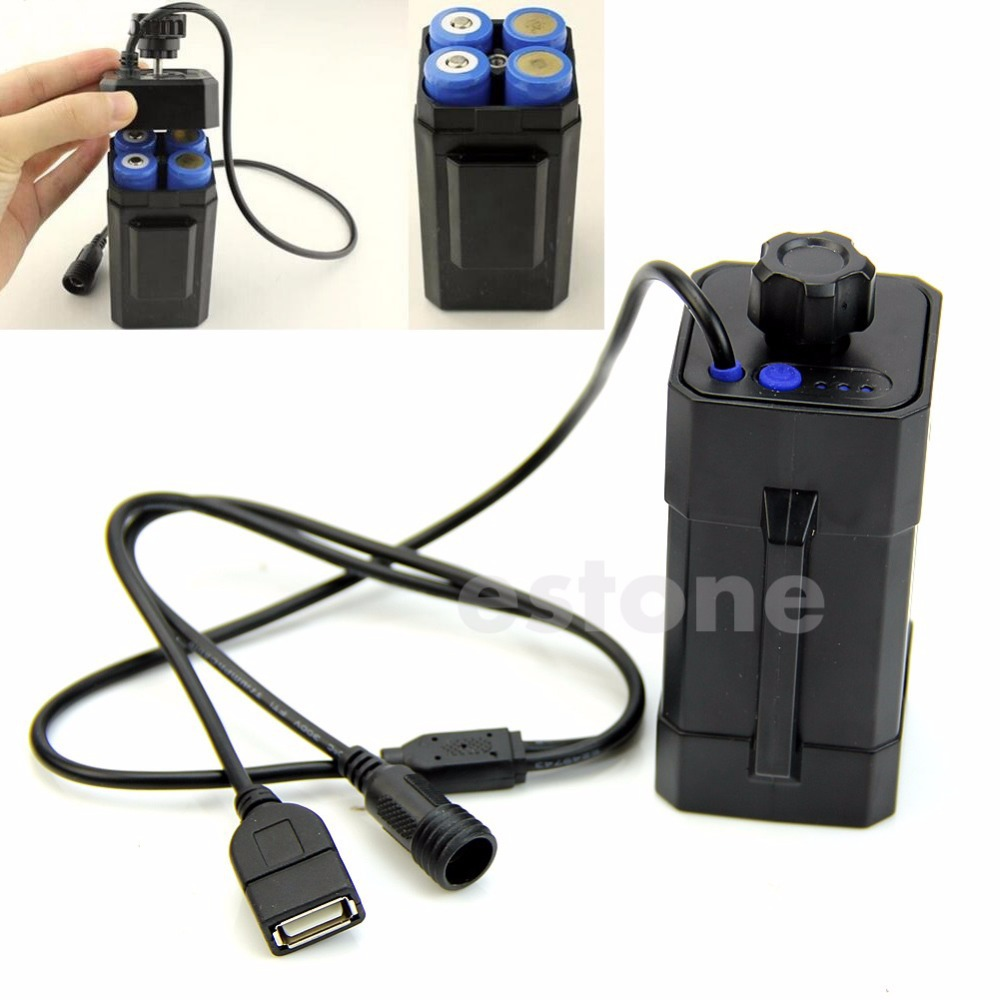 New 4x 18650 Water Resistant Battery Pack Case House Cover For Bike Bi