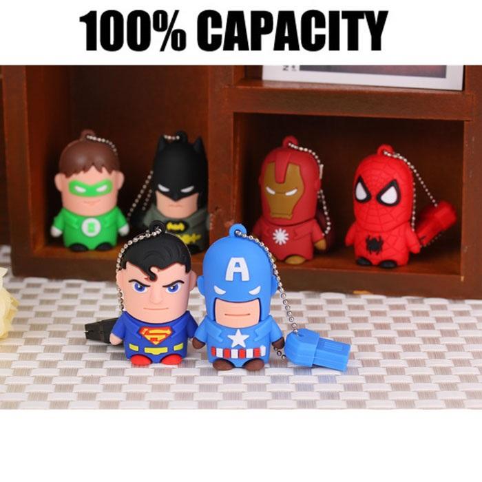 2015 New Style Cartoon Toys USB Flash Drives USB 2.0 Pen Drive 64GB 32GB 16GB 8GB 4GB pendrives U disk(China (Mainland))
