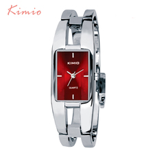 Kimio Woman Watches 2015 Brand Luxury Rectangle Stainless Steel Bracelet Watch For Women Dress Quartz-watch Wristwatches Clock