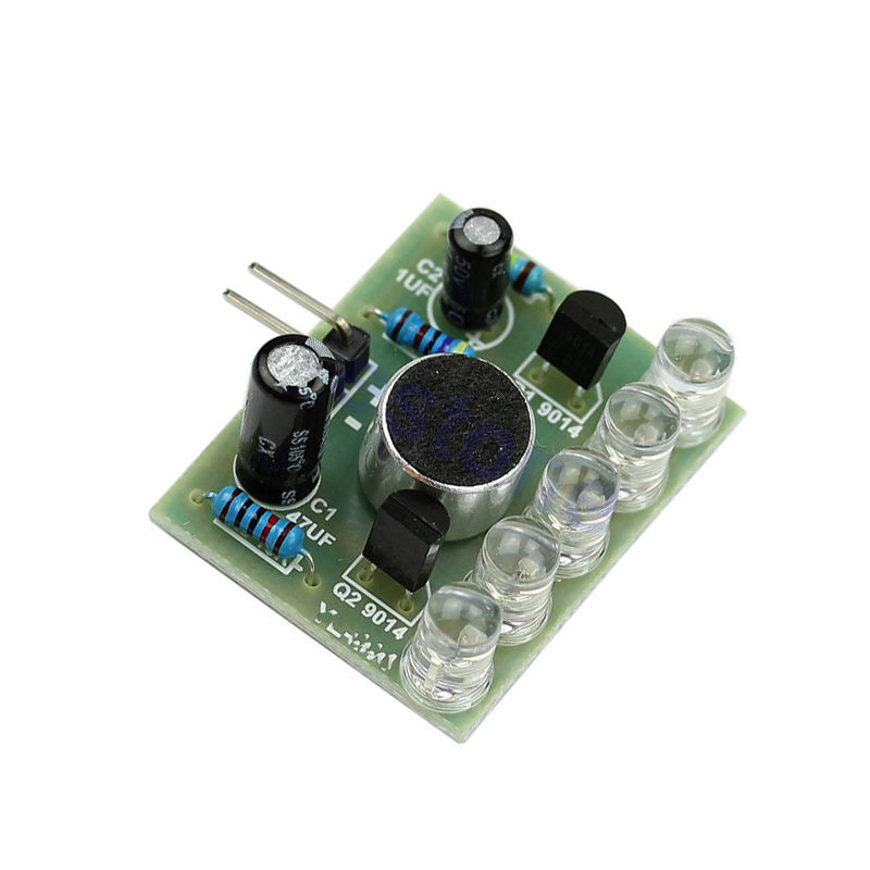 New LED Sound Control Melody Lamp Electronic Production DIY Kits Suite in selling(China (Mainland))