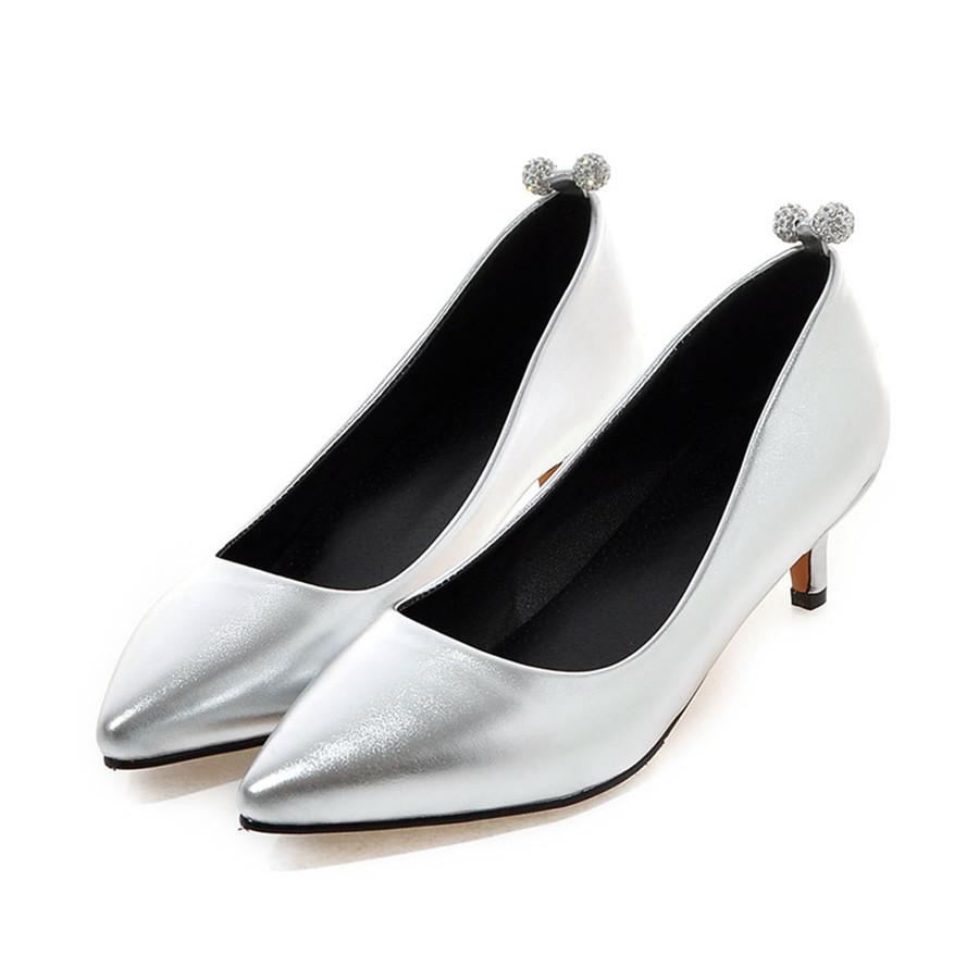 get cheap silver dress shoes low heel aliexpress