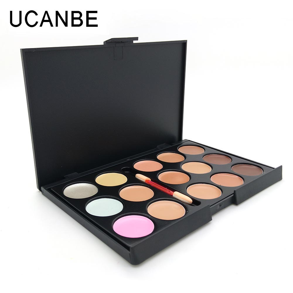24 Hour Lasting Concealer Palette 15 Colors Concealer Facial Face Cream Care Camouflage Makeup Base Cosmetic Palettes with Brush(China (Mainland))