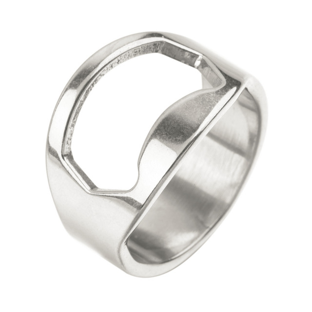 2 x Stainless Steel Finger Ring Bottle Opener