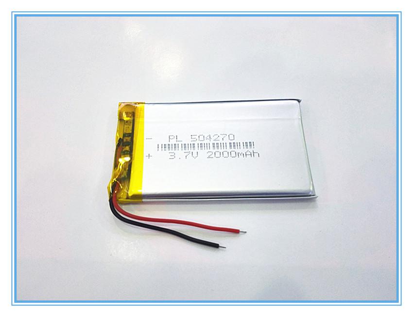 Free shipping 3.7 V lithium polymer battery 2000 mah interphone 504270 GPS vehicle traveling data recorder