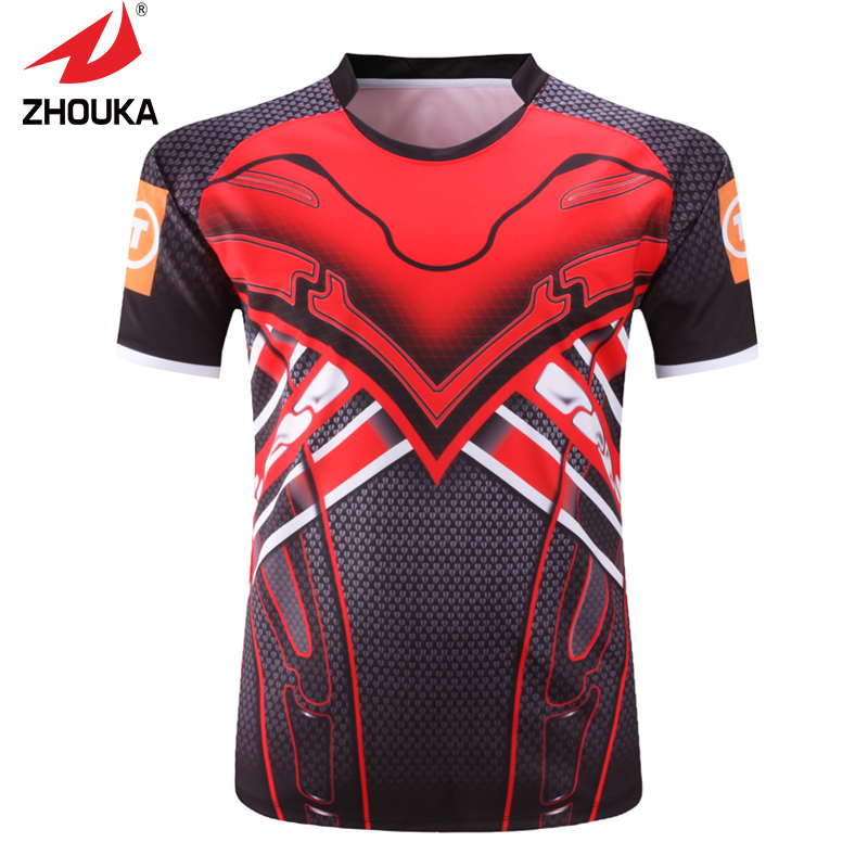 100% polyester High Quality Unique Custom Men's Rugby Jerseys(China (Mainland))