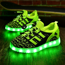 Children Shoes With Light Boys Girls Casual LED Lighted Shoes For Kids Good Quality LED Light Up Usb Charging Kids Shoes tx0288(China (Mainland))