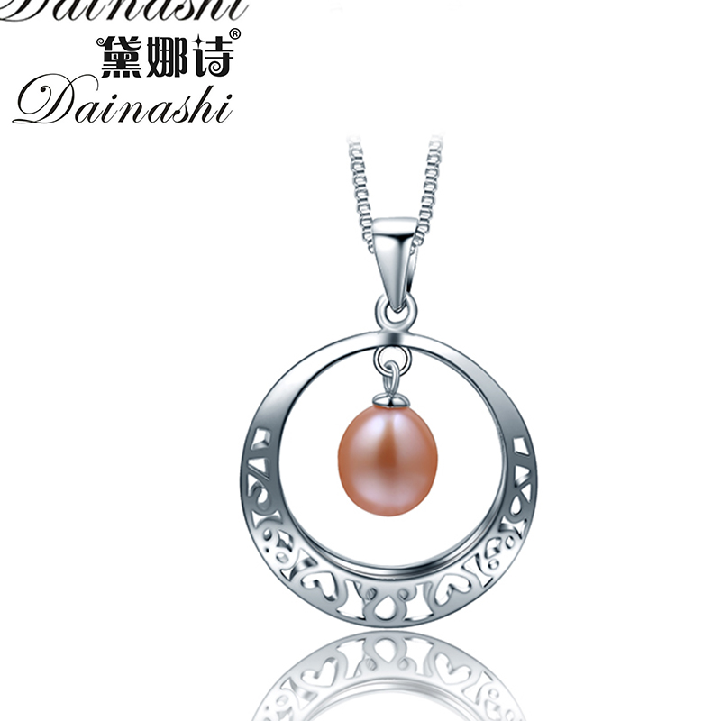 2016 New fashon water drop pearl pendant necklace for women 100% natural freshwater pearl with good 925 sterling silver for girl(China (Mainland))