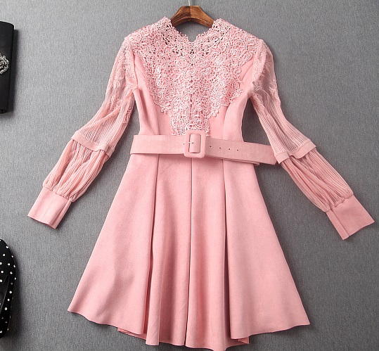 2016 NEW FASHION WOMEN DRESSES EMBROIDERY PACHWORK SUEDE ...