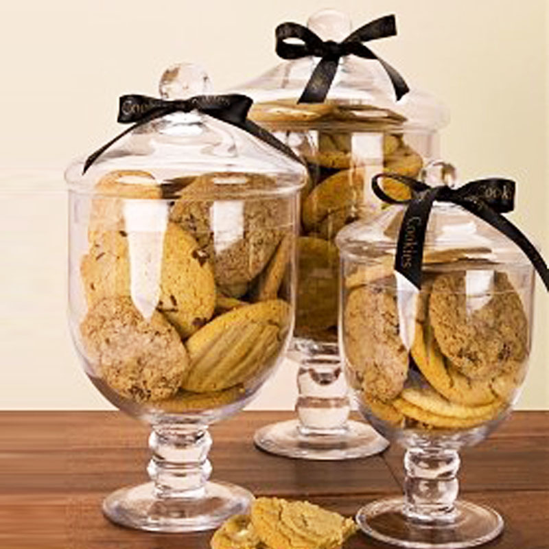 a glass jar with lid decoration glass candy jars of