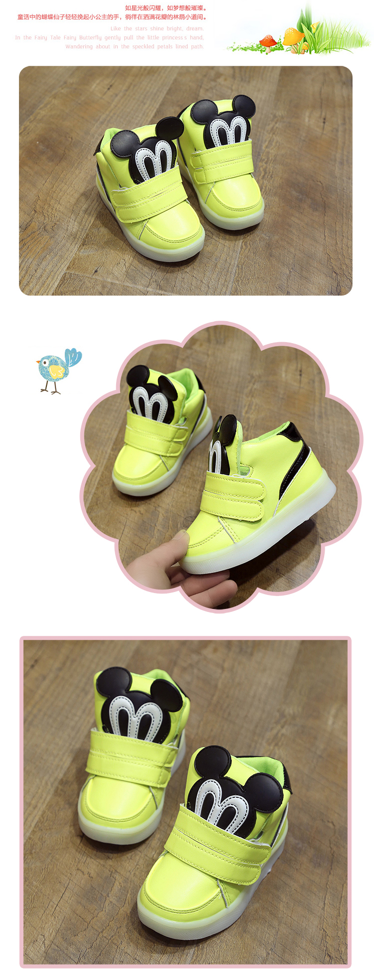 Children Shoes With Light Led Boys Sneakers 2017 New Spring Cartoon Clarette Cia Brown Lighted Sport Fashion Girls Chaussure Enfant Us299