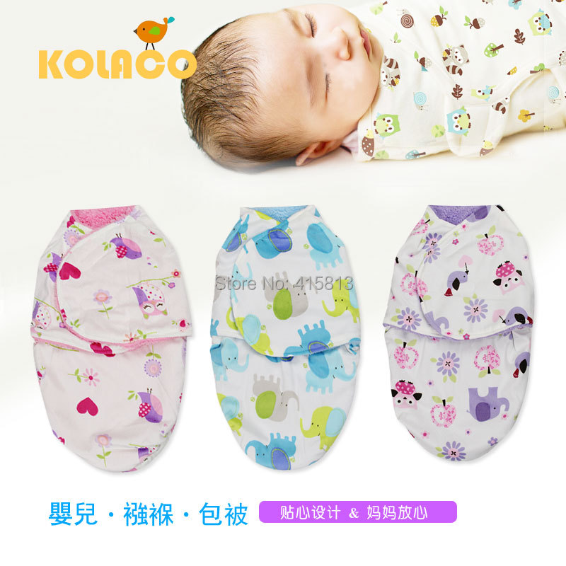 Free shipping Double layers blanket baby swaddling Flannel microfiber fleece soft Newborn cartoon blanket sleeping bag 50X32cm(China (Mainland))