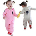 Baby Rompers 2016 high quality Ropa e Long Sleeve Hooded Cotton Baby Costume Spring Autumn Romper